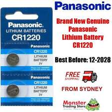 2pcs PANASONIC CR1220 3V LITHIUM BUTTON COIN BATTERY BRAND GENUINE/NEW (12/2028)