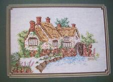 Stone Mill Pond English cottage cross stitch pattern
