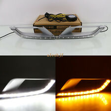 LED Daytime Running Lights DRL Yellow Turn Singals for Ford Ranger Wildtrack 15+