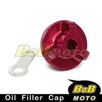 Race Red CNC Oil Filler Cap For Suzuki GSF 600 1200 S Bandit 1997-2006