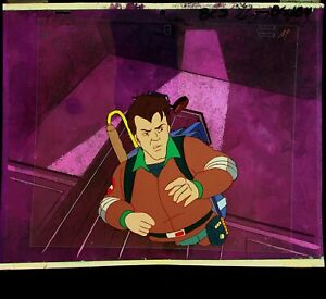The Real Ghostbusters 1987 Production Animation PETER Cel & Painted Back DiC