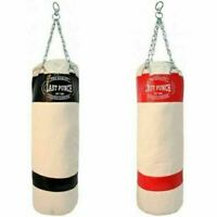 """50"""" PUNCHING BAG w/ CHAINS Sparring Kick MMA Boxing Training Canvas Heavy Duty"""