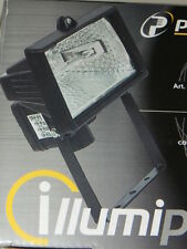 Proiettore da esterno con Lampada alogena 150 W  Faretto faro colore nero  FL150