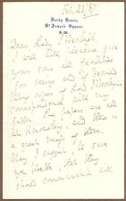 Edward Stanley, 15th Earl of Derby, Autograph Letter Signed, 1887, COA