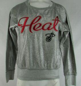 Miami Heat NBA G-III Women's Silver Long Sleeve Sweater