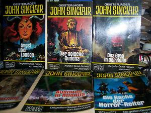 JOHN SINCLAIR -  Konvolut - Taschenbücher 1-12 - aus dem Bastei-Verlag
