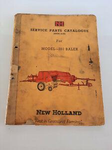 Vintage New Holland Model 281 Baler, Service Parts Catalogue, Manual, Book