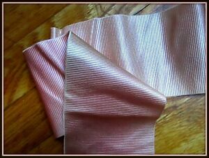 LUSH ANTIQUE VICTORIAN FRENCH OLD-FASHIONED FLESH PINK RIBBED SILK RIBBON TRIM