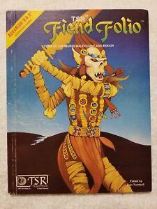 Fiend Folio 1981 TSR #2012 AD&D Advanced Dungeons & Dragons