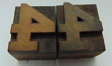 2 Printing Letterpress Printers Block Wood Type Number 4 1 116 X 1 516