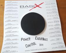 "Basix 14"" Snare Drum  Rubber Practice Pad Schwarz BSX"