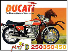 Vintage Classic Motorcycle Poster Ducati 1970 450 Mark 3 Desmo 22x26 advertiseme