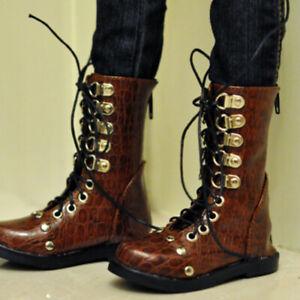 Uncle 1/3 BJD Shoes PU Leather Boots Strap Punk Metal Deco AOD B&G DZ DF Knight