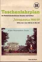Fahrplan Reichsbahndirektionen Dresden/Cottbus 1986/1987-35 J.Pioniereisenbahn!!