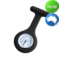 Nurse Silicone FOB Watch with Date Function - Black