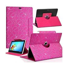 Housse Etui Diamant Universel M couleur Rose Fushia pour Tablette Moonar Cube U2