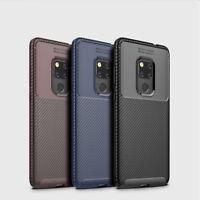 Case For Huawei Mate 20 Lite Pro P20 Carbon Fibre Soft Cover TPU Silicone Slim