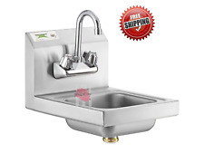12 X 16 Stainless Steel Wall Mount Nsf Hand Wash Sink Commercial Restaurant