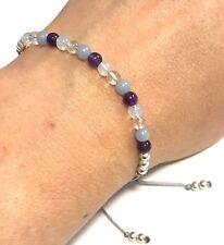 Just Gemstones Connect With Your Angels Power Angelite Bracelet -Adjustable