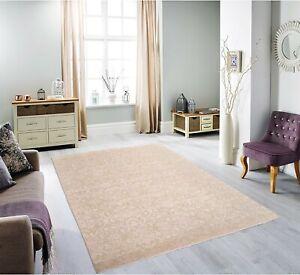 8x10 Area Rug Soft Pink Beige Handmade Wool Silk Floral Transitonal #6989