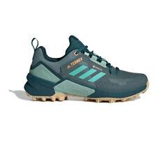 adidas Womens Terrex Swift R3 GORE-TEX Walking Shoes - Green Sports