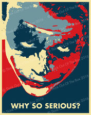 Batman Joker Quotes Heath Ledger 'Why So Serious?' Glossy Poster Art Print!