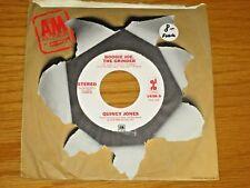 "PROMO FUNK/SOUL 45 RPM - QUINCY JONES - A&M 1638 - ""BOOGIE JOE, THE GRINDER"""