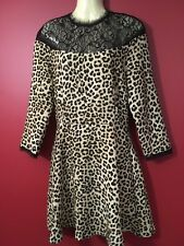 ZARA BASIC COLLECTION Women's Animal Print Dress - Juniors Medium - NWT