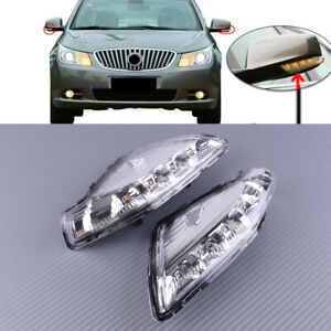 Repair L+R Side View Mirror Turn Signal Light Fit for Buick Lacrosse 2009-2015