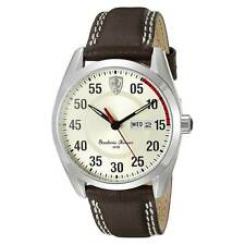 Ferrari 830175 Men's D50 Brown Leather Band Beige Dial Watch