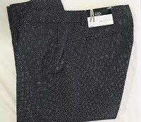 Liz Claiborne Womens Size 18 Petite Black Geometric Stretch Emma Ankle Pants NWT