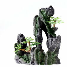 Rock Cave 16.5cm Aquarium Ornament Decoration Fish Tank Stone Mountain Resin