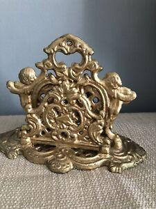 Antique Style Gold Metal Letter Rack