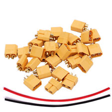 100pcs 50 pairs XT60 Plug Connector & Heat-Shrink for RC Airplane Quadcopter DIY