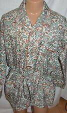 VINTAGE ROBE 60's Pleetway KIMONO paisley smoking jacket NEW OLD STOCK NO TAGS