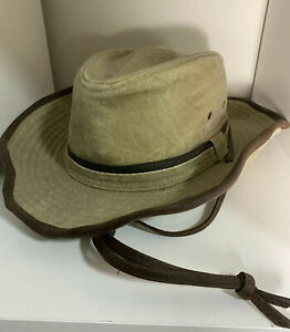 Dorfman Pacific Co. Men's Outback Hat SPF 50 New With Tags Khaki One Size All