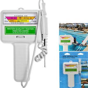 Digital Swimming Pool Water Quality Tester Chlorine Meter Analysis Test Kit