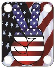 Neck Plate for Fender Guitar Color Graphic PJ Bass Strat Tele Flag US Patriot 5