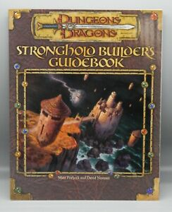 Dungeons & Dragons STRONGHOLD BUILDERS guidebook wotc D20 3e 3.5 guide book nos