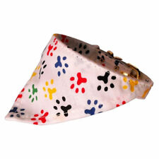"Mirage - Dog Puppy Bandana Collar - Made In USA - 1/2"" wide - Pawprints"