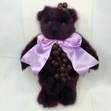 """Annette Funicello Purple Bear 12"""" Grape Suzette Limited Edition of 2500 Rare"""