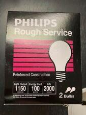 100 Watt Rough Service A19 Bulb 100A/2P/RS  E26 Frosted 100W
