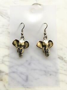 Elephant Earrings Spirit Animal Totem Celtic Native American Astrology