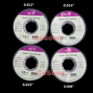 Dental Niti Open Coil Springs Orthodontic Arch Wires 3 Feet Dia.008/010/012/014