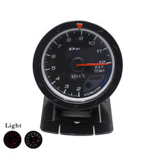 Exhaust Gas Temp Gauge 60MM EGT/EXT Temperature  Black Face with Red & White Led