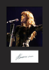 FLORENCE AND THE MACHINE #1 A5 Signed Mounted Photo Print - FREE DELIVERY