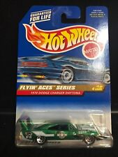 Hot Wheels Blue Card Collector # 737 1970 Dodge Charger Daytona Flying Aces