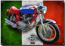 Mv Agusta 750S Motorrad Metall Schild,(A3) Größe Vintage Italienische Motorrad