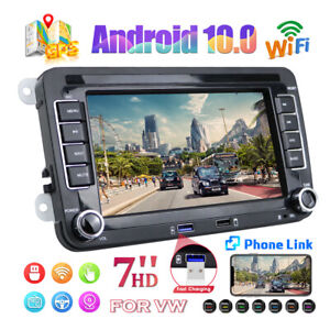 """Android 10.0 7"""" Autoradio GPS Navi Für 2DIN VW Passat Golf 5 6 Jetta Polo Touran"""