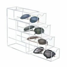 CICI&SISI Triple Drawers Beauty Clear Acrylic Cosmetic/Jewelry Display Stand